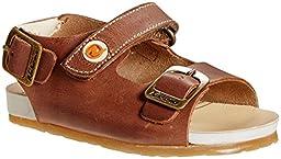 Naturino Falcotto Leather Sandal  (Inf/Tod) - Bark-18 EU/2 US