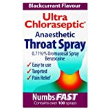 Ultra 15ml Chloraseptic Anaesthetic Throat Spray Blackcurrant Flavour