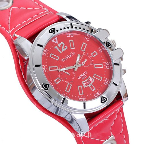 Red/ Top Quality Brand Watch For Women Fashion Luxury Dress Watch With Calendar Wrist Watches Wamage-09