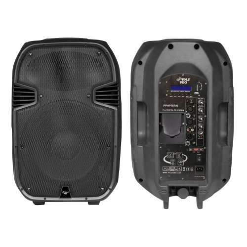 Pylepro Pphp157Ai 15-Inch 1400 Watt Portable Powered 2 Way Full Range Pa Speaker With Built-In Ipod Dock Usb Sd And Remote Control
