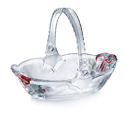 Celebrations by Mikasa Holiday Bells 7-3/4-Inch Basket