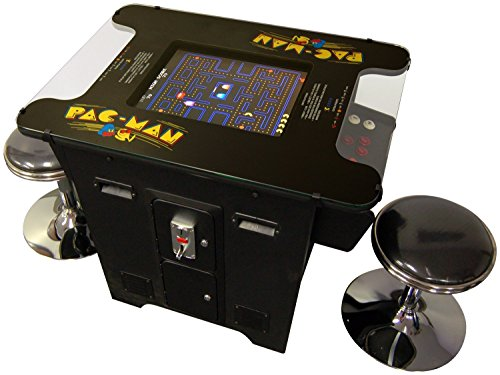 Cocktail Arcade Machine 412 in 1 Games Includes 2 Chrome Stools 5 Year Warranty Commercial Grade Features Games like Pac-Man Space Donkey Kong Space Invaders Galaga Frogger