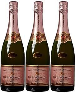 Louis Bouillot Perle dAurore Cremant de Bourgogne Rose Brut Non Vintage Wine 75 cl (Case of 3)