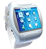 Super Cool Qaud Band Watch Touch Screen Cell Phone White