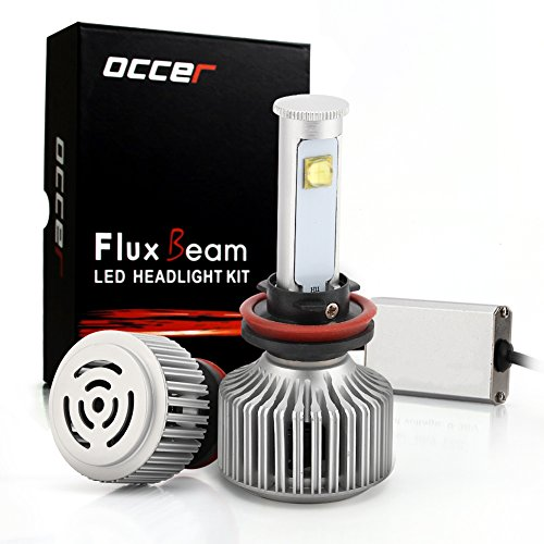 OCCER LED Headlight Bulbs w/ Clear Conversion Kit - H11 (H8, H9) - 80w 7,200Lm 6K Cool White CREE - 2 Yr Warranty (H11 80w Led Headlight Bulb compare prices)