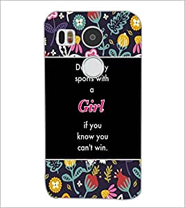 PrintDhaba Quote D-3154 Back Case Cover for LG NEXUS 5X (Multi-Coloured)