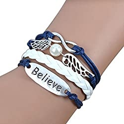 Sortitio's Wing Believe Blue Charm Bracelet