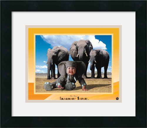 Imaginary Safari - Elephant By Tom Arma Framed front-728197