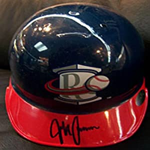 Jeff Francoeur Rome Braves Autographed Signed Baseball Mini Helmet by Hollywood Collectibles