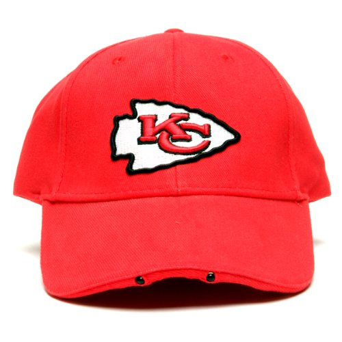 Nfl Kansas City Chiefs Dual Led Headlight Adjustable Hat