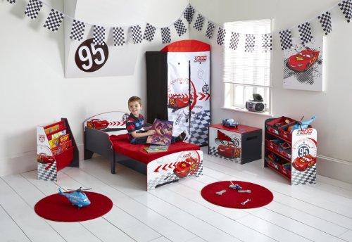 Worlds Apart 864456 Moderne Lit d'Enfant Toddler/Disney Cars MDF Blanc/Rouge 59 x 77 x 145 cm