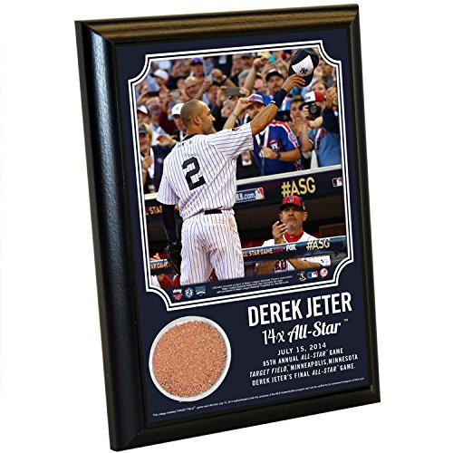 Derek Jeter 14 Time All Star Steiner Sports 4X6 Plaque With Dirt From Target Field front-1030121