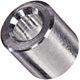 Round Spacer, Aluminum, Plain Finish, Inch, Made in US