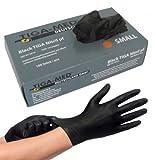 Nitrilhandschuhe puderfrei schwarz black 100 Stück Größe: Medium Einmalhandschuhe Nitril