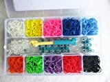 Loom Bandz Bracelet Kit & Clips with 2000 Bandz + 50 Clips + 1 Hook + 1 Loom Board