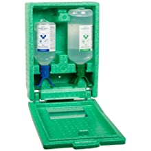 Plum 248808503 Covered Duo Bottle Eye Wash Station With 500 ml pH Neutralizing And 1000 ml Sterile Saline