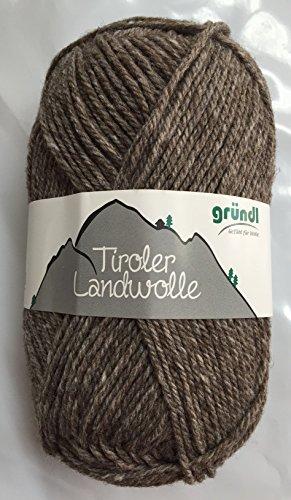 Grndl-Tiroler-Landwolle-Fb-02-Trachtenwolle-holz-zum-Stricken-Hkeln-100g