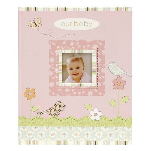 """""""Our Baby"""" Baby'S First Record Memory Book Keepsake Birds/Flowers, Girl Pink Baby Book front-528027"""