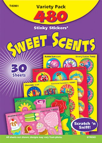 Stinky Stickers Sweet Shapes 456/Pk Acid-Free Super Saver Pk -- Case of 3