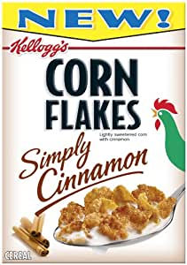 Corn Flakes Cereal, Simply Cinnamon, 12-Ounce Boxes (Pack of 4)