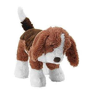 ikea animal en peluche gosig valp chien brun blanc 33cm peluche jeux et jouets. Black Bedroom Furniture Sets. Home Design Ideas