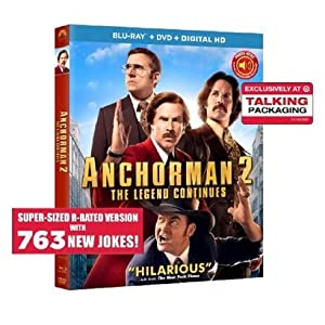 amazoncom anchorman 2 the legend continues bluray dvd