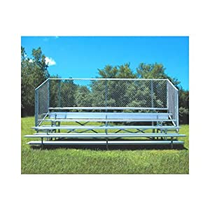 Jaypro Sports BLCH-521ASGR 5 Row 21 ft. with Guard Rail and Aisle by Jaypro Sports