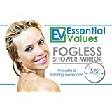 Fogless Shower Mirror w/ Adjustable Swivel Arm & Easy Mount Suction | Great Makeup Removal Mirror and Shaving Mirror by Essential Values