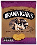 Brannigans From Mccoy's Roast Beef and Mustard Flavour Potato Chips 40 G (pack Of 18)