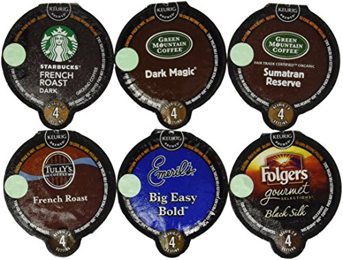 30 Count VUE Cups BOLD ROAST COFFEE Variety Sampler Pack *NO DECAF 6 Different Flavors, 5 VUE Cups Each