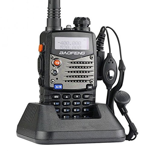 Baofeng UV5RA Ham Two Way Radio 136-174/400-480 MHz Dual-Band Transceiver (Black) (Police Software compare prices)