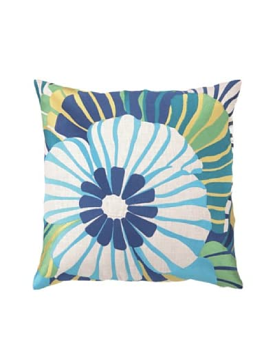 Trina Turk Sea Floral Embroidered Pillow  [Blue]