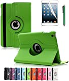 Apple iPad 2/3/4 Case, CINEYO(TM) 360 Degree Rotating Stand Case Cover with Auto Sleep / Wake Feature for iPad 2/3/4(10 Colors)this case is for Apple iPad 2 3 4 (Green)