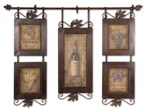 Uttermost 52.5″ Inch Hanging Wine Oil Reproduction Painting Hanging Wall Artwork Decoration