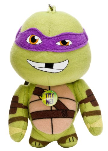 Teenage Mutant Ninja Turtles 'Leonardo, Donatello, Raphael and Michelangelo' Assorted Bag Buddies 5 Inch Backpack Clip (010336) - 1