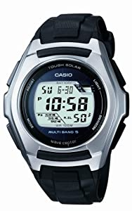 Casio Wv-m120e-1ver Wave Ceptor Solar Powered Digital Watch