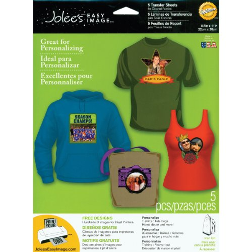 Jolee's Boutique Easy Image Iron-on Transfer Paper, Colored Fabrics (Clear Iron On Transfer Paper compare prices)