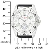 U.S. Polo Assn. Men's US5159 Silver Dial Black Strap Watch