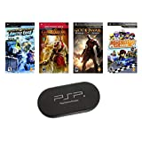 PSP ULTIMATE 4 Game Bundle with UMD Case Holder - Limited Offer!