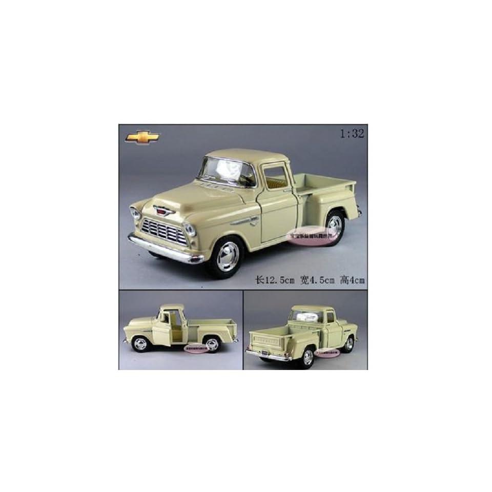 Brand New 132 Chevrolet 1955 Pickup Alloy Diecast Model Car Milky White Toy Colletion B 378