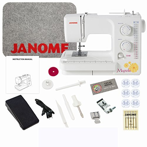 Janome Magnolia 7318 Sewing Machine with Exclusive Bundle (Janome Sewist 500 compare prices)