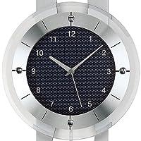 Reloj De Péndulo AMS Reloj de pared POWXQ5243Radio con péndulo Madera Tallado posterior, aluminio de AMS