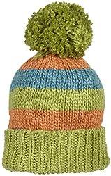 Kiwi Pom Pom Hat (Baby) - Kiwi/Teal/Marigold-X-Small (0-6 Months)