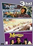 Flight Of The Navigator/Short Circuit/Merlin [DVD] [1987]
