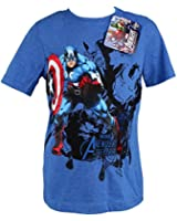 Boys Kids Official Marvel T Shirt Captain America Iron Man T-Shirt - For Ages 4-12 Years