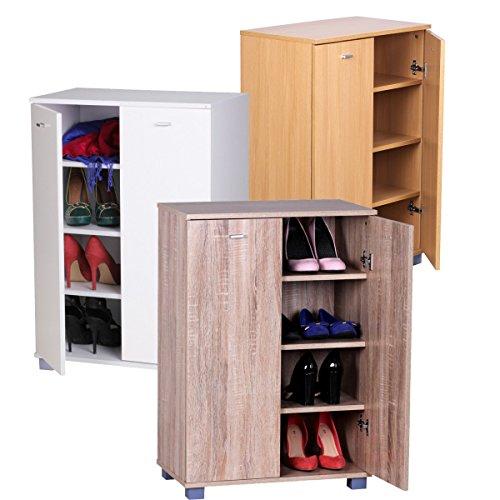 FineBuy-BERT-Schuhschrank-zu-Cabinet-Schuhkommode-Flur-Holz-60cm-breit-90cm-hoch-35cm-tief-fr-12-paar-Schuhe-geschlossen-mit-Tren-verschliebar-Garderobe-Kommode-2-trig-4-Fcher-Schuhregal-Wei