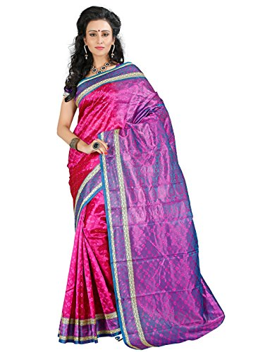 Roopkala Women Art Silk Saree(SH-1301,Pink)