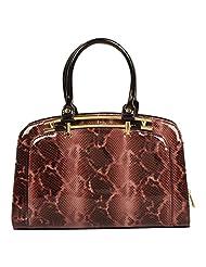SWAN Women's Wine Leopard Print Handbag (FI007)