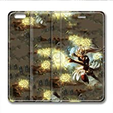 buy Iphone 6 6S Plus Leather Case Pu Material Hard Shell Flip Credit Card Holder Magnetic Stand Video Game Logo Poster Pattern Character Screen Adventure Fighting-Syndra League Of Legends