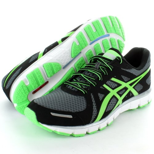 Asics Mens T23RQ Gel Attract Running Shoes, Charcoal/Black/Green